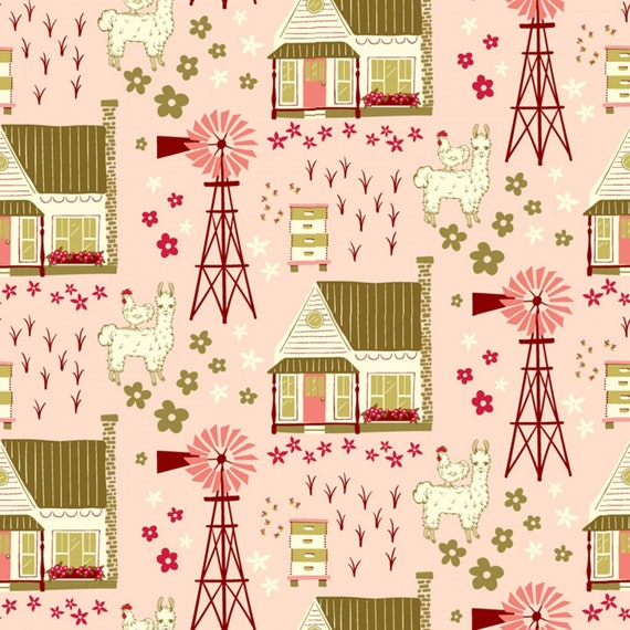 Homestead Life, Shirley Poppy, Homestead Vignette, Yardage by Judy Jarvi, for Windham (51518 1), sold by the 1/2 yard or the yard