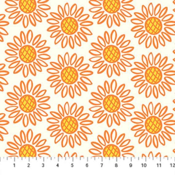 Squeeze Sunflowers by Dana Willard - Figo Fabrics 90297-56, sold by the 1/2 yard or the yard