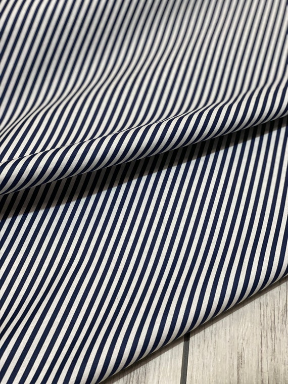 Shine On, Stripe Navy, 55215 17, By Bonnie and Camille for Moda Fabric, Sold by the 1/2 yard or the yard