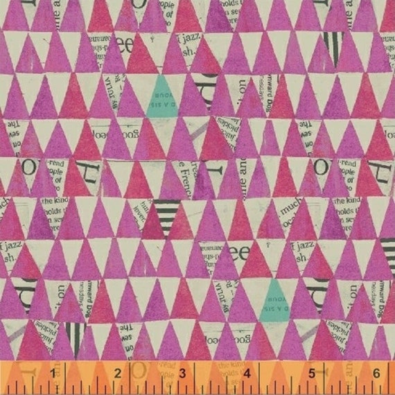 Wonder - By Carrie Bloomstom - For Windham Fabrics - Orchid Stacked Triangle (50521-7)- Sold by the 1/2 yard or the yard