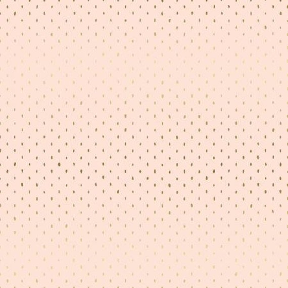 CS101-BL5M Cotton+Steel Basics - Stitch and Repeat - Blush Metallic Fabric- sold by the 1/2 yard or the yard