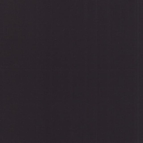 Bella Solids, Super Black, 9900 96 Moda, sold by the 1/2 yard or the yard