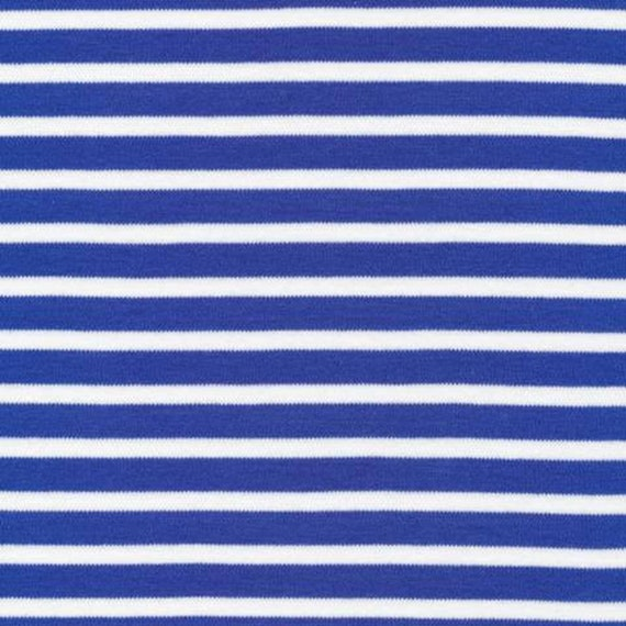 Cloud9, 2017 Knits, organic knit fabric in Colorful Stripes Blue