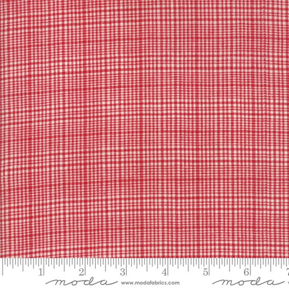 Picnic Basket Plaid Red, 12134 14, Moda, Woven, sold by the 1/2 Yard - Cut Continuously
