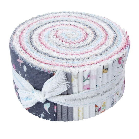 Moments 2.5 Inch Rolie Polie Jelly Roll 40 pieces Riley Blake Designs