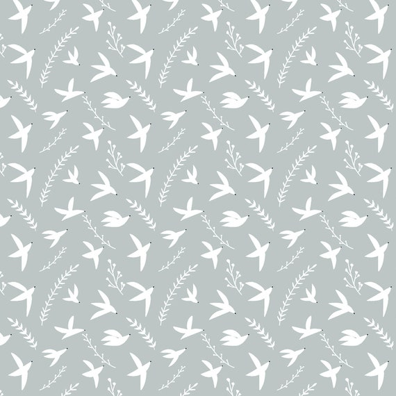 Pond Life-Birds in Flight-Sky Fabric- By Indico Designs for RJR- Sold by the 1/2 yard or the yard