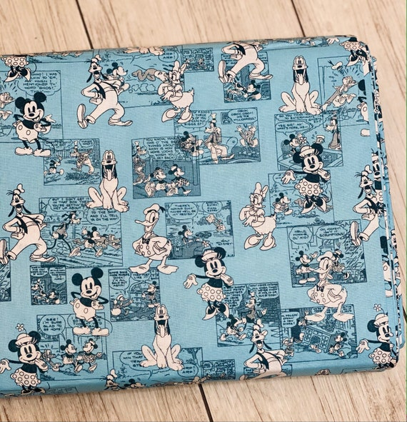 Disney Mickey And Friends, Sensational 6 Comic Strip Multi - Cotton- Sold by the 1/2 yard or the yard cut continuous from bolt