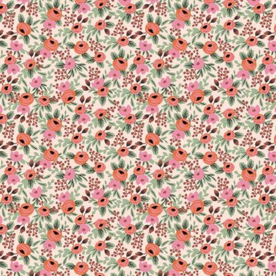 Primavera - Rosa - Blush Fabric-Rifle Paper Co-RP305-BL3- Cotton and Steel/RJR- sold by the 1/2 yard or the yard