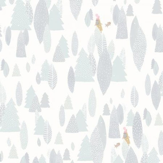 PK103-SO3P Girl's Club - Another Adventure - Soft White White Pigment Fabric- Cotton and Steel- sold by the 1/2 yard or the yard
