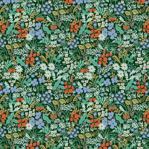 Meadow - Meadow - Hunter Fabric- Rifle Paper Co- Cotton + Steel/ RJR- RP204-HU1- sold by the 1/2 yard or the yard