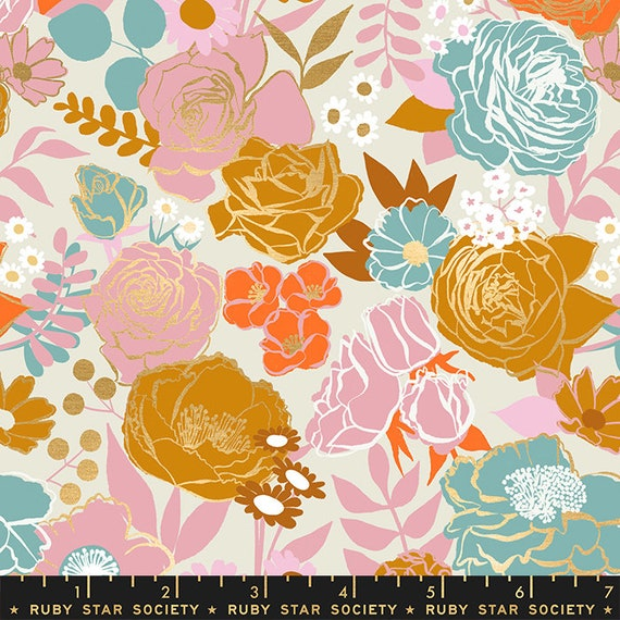 Rise Grow Shell, RS0012 11M Ruby Star, Melody Miller, Moda Fabric, sold by the 1/2 yard or the yard
