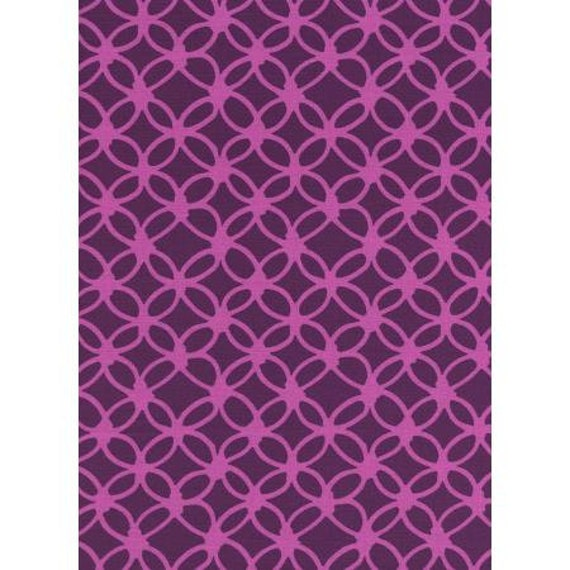 R1933-001 Macrame - Knotty - Grape Fabric- Cotton and Steel- RJR- Sold by the half-yard cut continuous