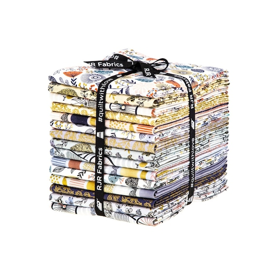Summer in the Cotswolds, Fat Quarter Bundle,  from Cotton and Steel, 15 FQ's, Precuts
