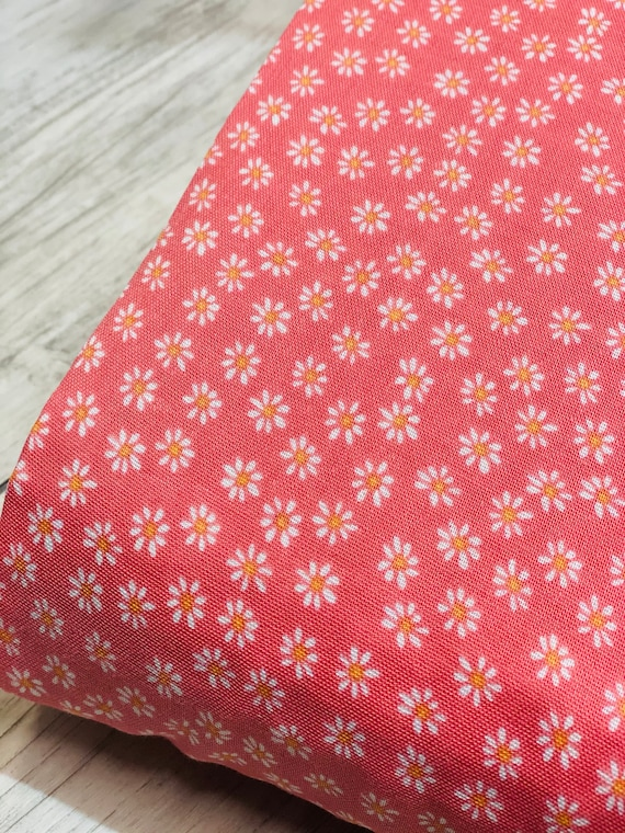 Daisies Double Gauze- Organic Double Gauze- By Monaluna Fabric- sold by the 1/2 yard or the yard