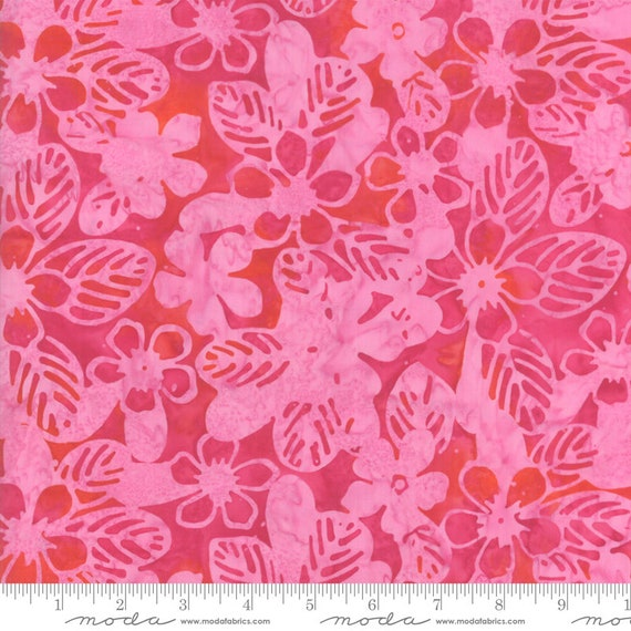 Aloha Pink, 4356 18,  Moda Batiks, Sold by the 1/2 yard or the yard