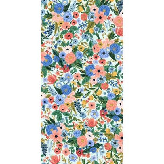 RP104-BL2 Wildwood - Petite Garden Party - Blue Fabric- Rifle Paper Co-Cotton and Steel/RJR- sold by the 1/2 yard or the yard