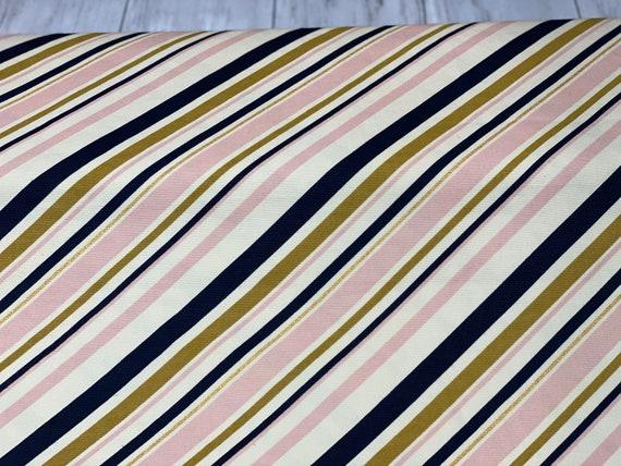 Stripe in Blush - Mod Nouveau by Jay-Cyn- for Birch Fabrics - 100% Organic Cotton CANVAS D- MN-08-BLUSH-Sold by the half-yard or the yard