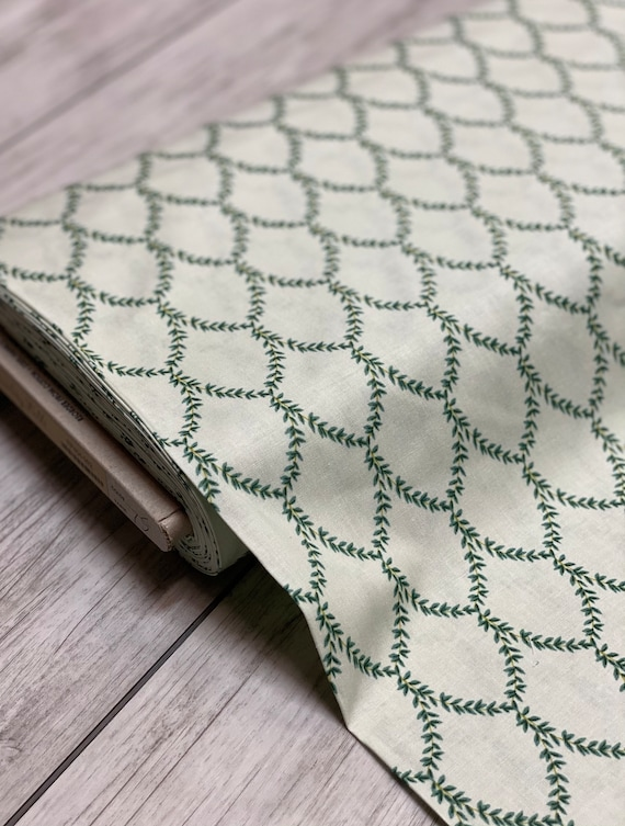 Strawberry Fields - Laurel - Mint Fabric- RP404-MI2- Cotton- Rifle Paper Co- Cotton and Steel/RJR- sold by the 1/2 yard or the yard