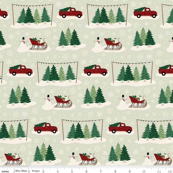 Christmas Traditions Main Mint-C9590-MINT- By Dani Mogstad-Riley Blake- Sold by the 1/2 yard or the yard