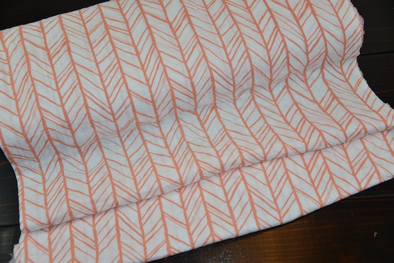 Double Gauze Embrace Shannon Fabrics Papaya Herringbone-Sold by the yard cut continuous