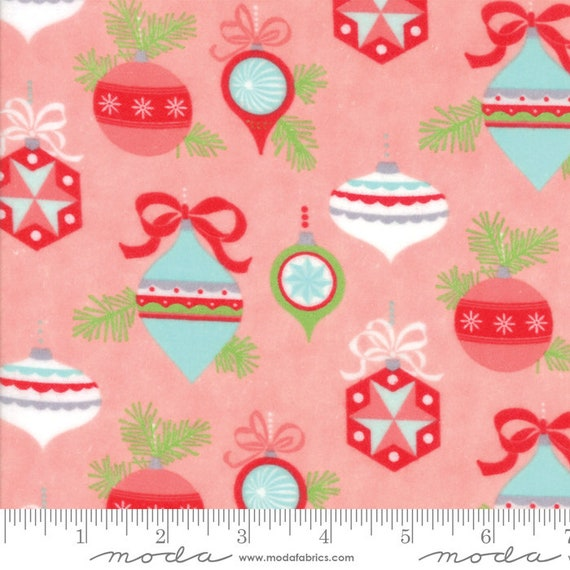 Vintage Holiday, Pink 55160 14F, Moda Flannel, By Bonnie & Camille, sold by the 1/2 yard – cut continuously