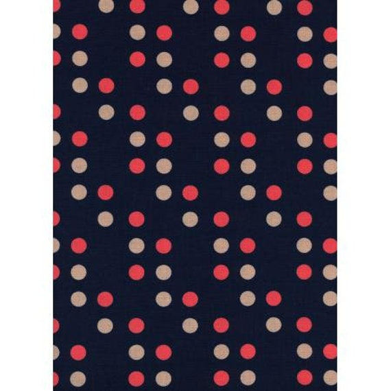K3019-001 Lucky Strikes - Dime Store Dot - Navy Fabric- By Kim Knight for Cotton + Steel, Sold by the 1/2 yard or the yard