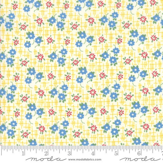 Bubble Pop Yellow, By America Jane, 21763 13 Moda, 1930's reproduction, sold by the 1/2 yard or the yard