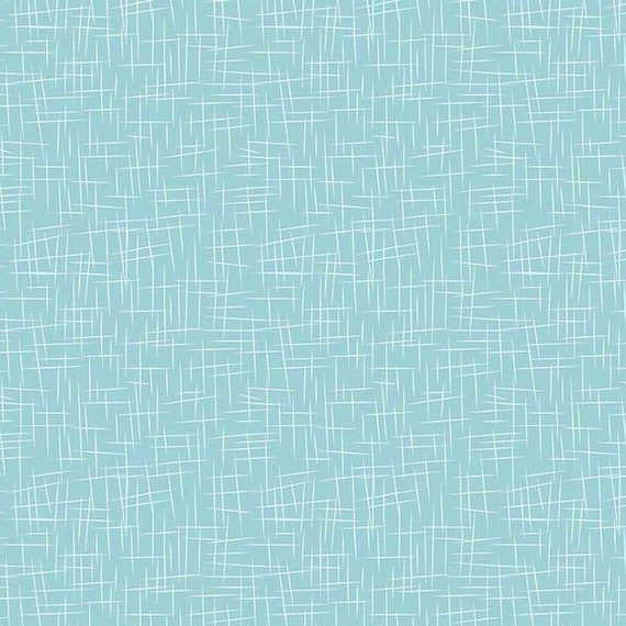Flannel 'Large Hashtag' Aqua by Riley Blake, sold by the 1/2 yard – cut continuously