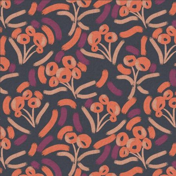 Glory - Luella - Blackberry Punch Unbleached CANVAS Fabric- MC205-PU2UC- Cotton + Steel- Sold by the 1/2 yard or the yard