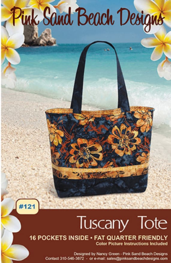 Tuscany Tote, #121, Pattern by Pink Sands Designs