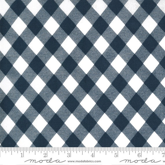 Sunday Stroll, White and Navy, 55227 15 Moda, By Bonnie and Camille, for Moda, Sold by the 1/2 yard or the yard