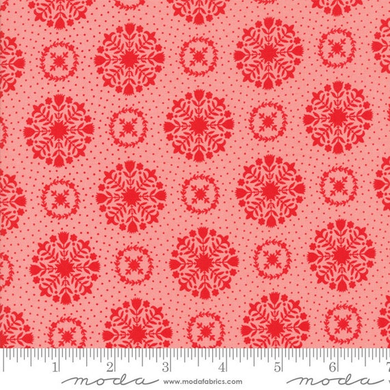 Vintage Holiday Pink 55166 14 By Bonnie and Camille for Moda, sold by the 1/2 Yard - Cut Continuously