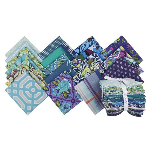 FreeSpirit Blues, Precuts, Fat Quarter Bundle by FreeSpirit Fabrics for FreeSpirit Fabrics