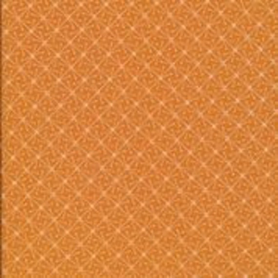 Sparks Orange, From Lisbon Square Organic Quilters Cotton By Heather Moore, sold by the 1/2 Yard - Cut Continuously