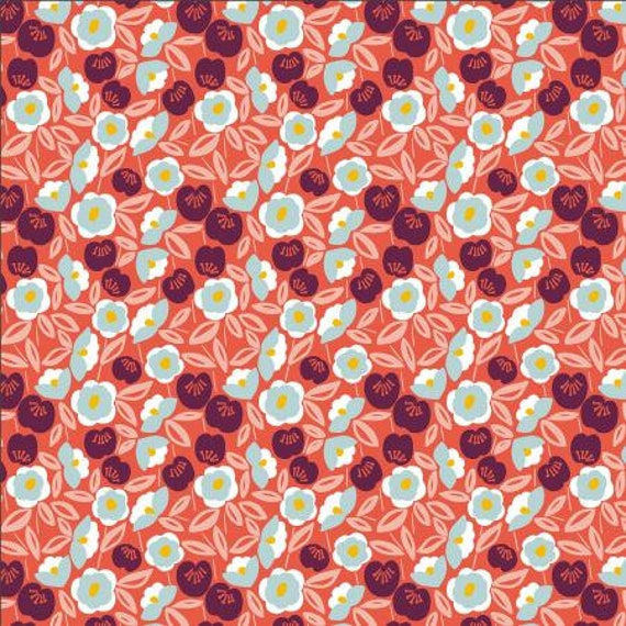 Glory - Joani - Cherry Fabric- MC202-CH2- Cotton + Steel- Sold by the 1/2 yard or the yard