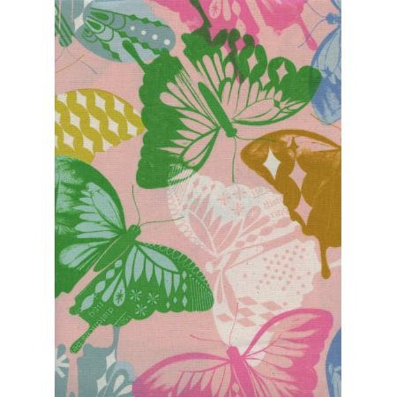 Flutter - Flutter - Pink Unbleached Cotton Fabric-Cotton and Steel-RJR-M0058-002-Sold by the half-yard cut continuous