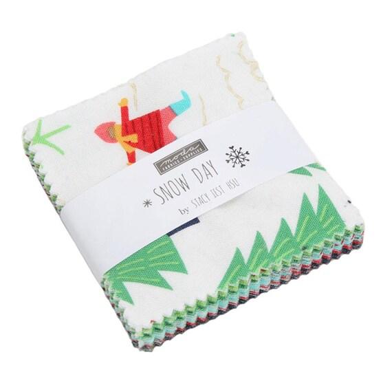 Snow Day Mini Charm Moda # 20630MC pre-cut fabric Designed by Stacy Iest Hsu