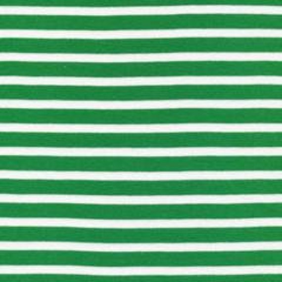 Cloud9 Fabrics Organic Interlock Knit Colorful Stripes in Green