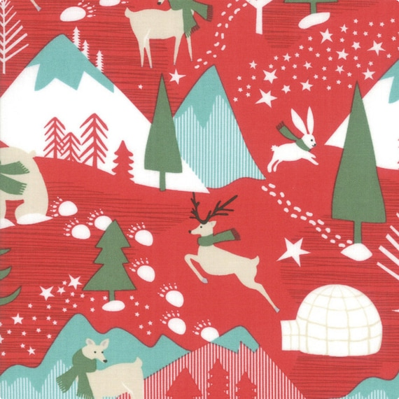 Aurora Tundra Berry, 27300 12, By Kate Spain, for Moda- Sold by the 1/2 yard or the yard