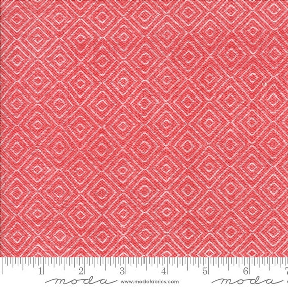 Bonnie Camille Diamond Red 12405  Moda Wovens, sold by the 1/2 Yard - Cut Continuously