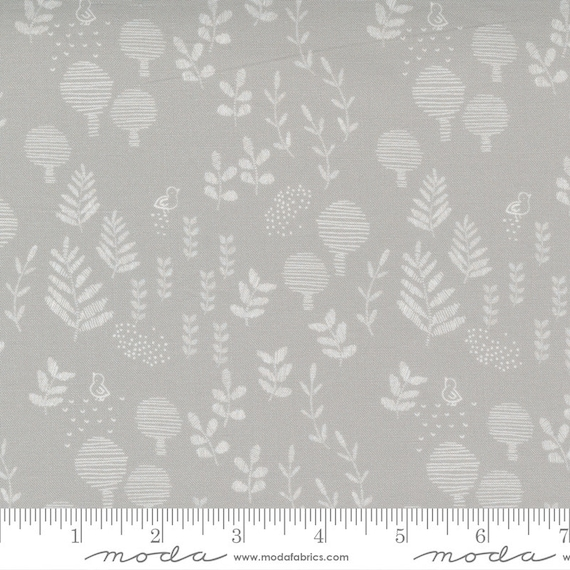 Little Ducklings, in Warm Grey, 25104 14 Moda, By Paper And Cloth, Sold by the 1/2 yard or the yard