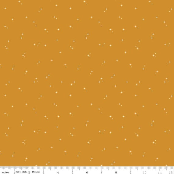 Mod Meow Stars Butterscotch, C10284-BUTTERSCOTCH, By Amanda Niederhauser, for Riley Blake, sold by the 1/2 yard or the yard