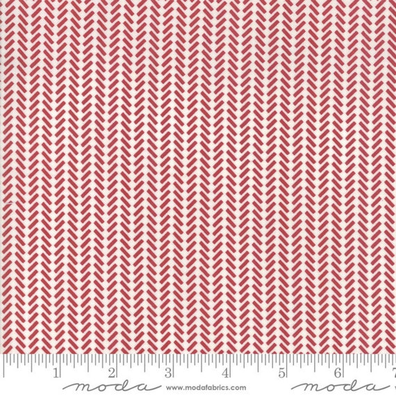 The Print Shop Red Against The Grain, by Sweetwater for Moda Fabrics (5744 21), sold by the 1/2 Yard - Cut Continuously