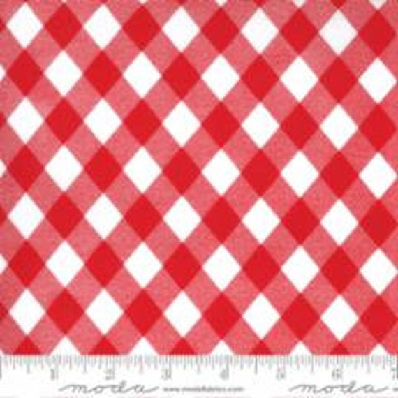 Sunday Stroll, White and Red, 55227 12 Moda, By Bonnie and Camille, for Moda, Sold by the 1/2 yard or the yard