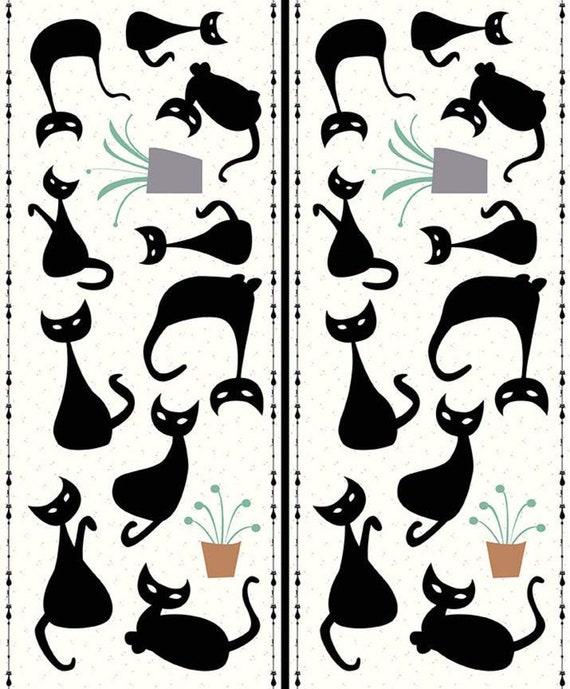 Mod Meow, P10287-PANEL, By Amanda Niederhauser for Riley Blake