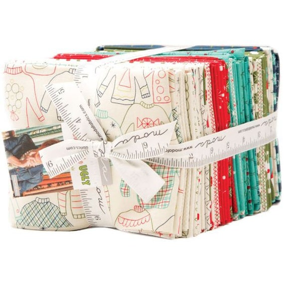 Eat Drink and Be Ugly Fat Quarter Bundle by Sandy Gervais for Moda Fabrics