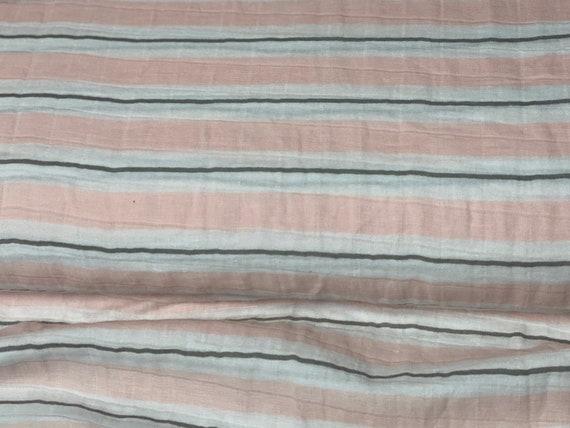 Embrace Double Gauze Ribbon Stripe - Pink