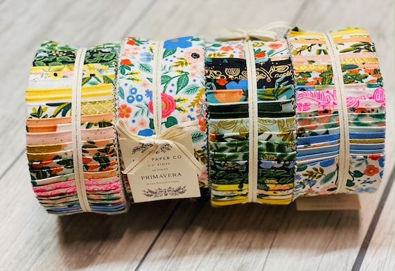 "PRIMAVERA - Jelly Roll - 2.5"" strips, 40 strips included,  by Rifle Paper Co for Cotton + Steel/RJR- - Precuts-"