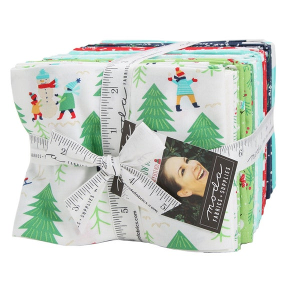 Snow Day AB 29 skus Fat Quarter Bundle Moda # 20630AB 29 assorted Christmas Fat Quarters - pre-cut fabric Designed by Stacy Iest Hsu