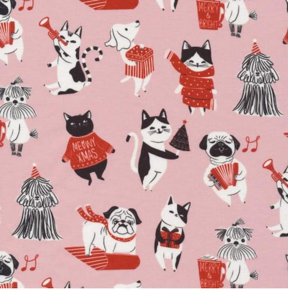 Jingle Mingle, Pawsome Holidays, Cloud9 Fabrics, Organic Cotton, Sold by the 1/2 yard or the yard